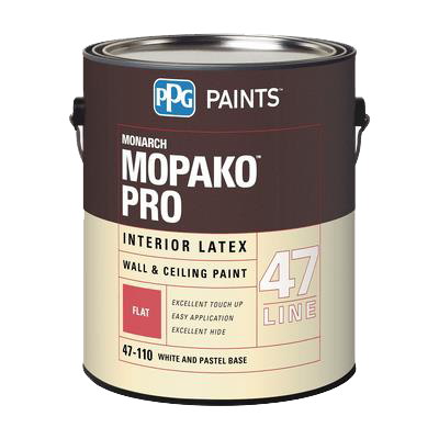 MONARCH MOPAKO PRO INTERIOR LATEX FLAT WHITE WALL & CEILING PAINT/ PASTEL 1 GAL - HOME IMPROVEMENT OUTLET