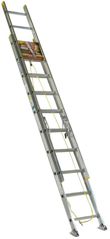 EXT LADDER - 20FT ALUMINIM EXT 225 LB - HOME IMPROVEMENT OUTLET