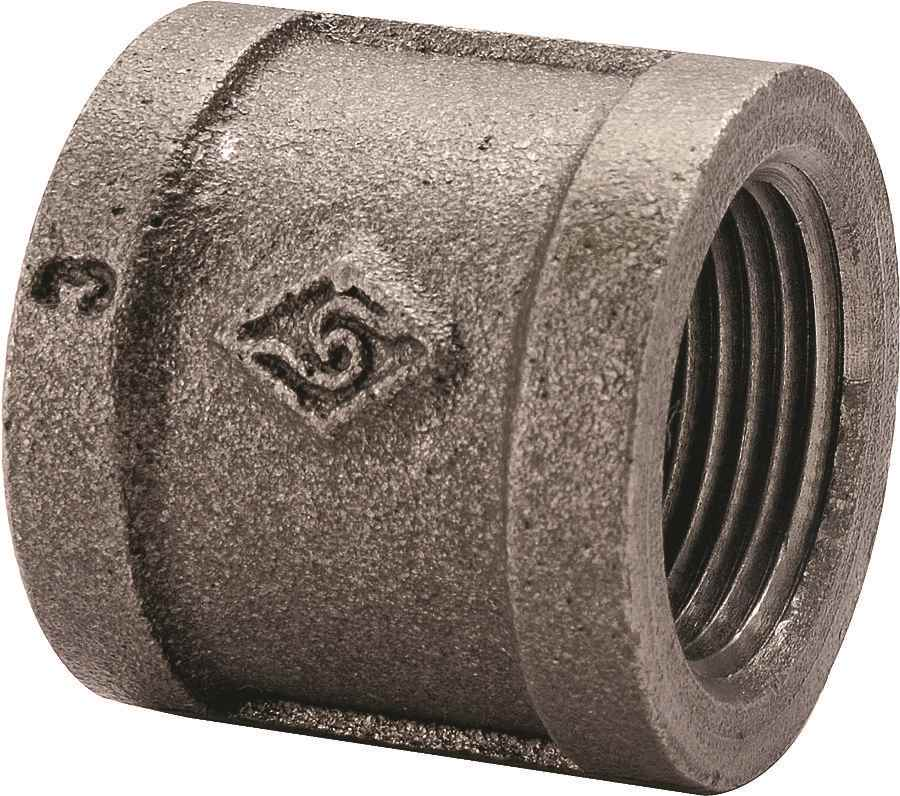 Main 3 - 1/2 Black Malleable Coupling - HOME IMPROVEMENT OUTLET