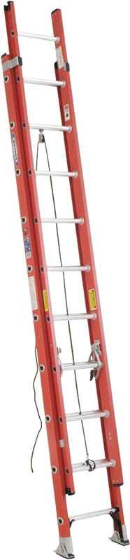 EXT LADDER - 20' TYPE1A FBGL 300LB - HOME IMPROVEMENT OUTLET