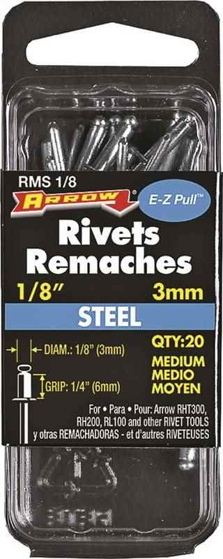"RMS1/8 MED STEEL RIVET 1/8"" - HOME IMPROVEMENT OUTLET"