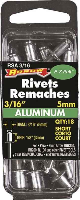 RSA3/16 SHORT ALUM RIVET 3/16 - HOME IMPROVEMENT OUTLET