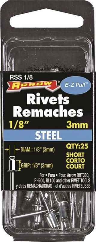 "RSS1/8 SHORT STEEL RIVET 1/8"" - HOME IMPROVEMENT OUTLET"