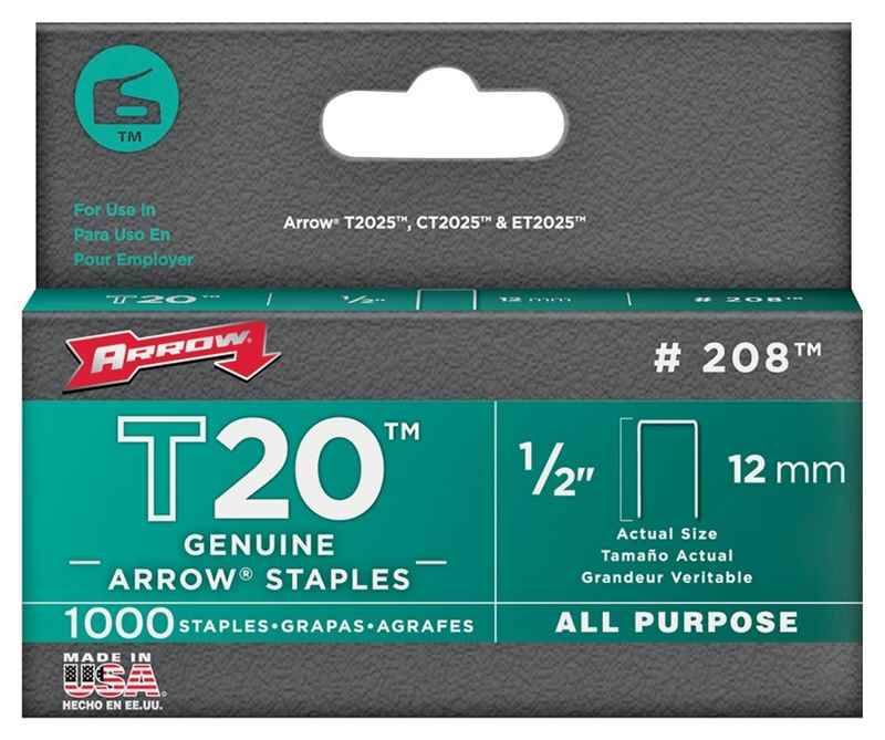"STAPLES - #208 T20 FLT CRWN 1/2"" 1000BX - HOME IMPROVEMENT OUTLET"