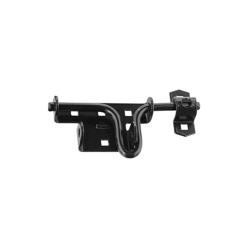 National Hardware - Door Gate Latch, N165-506 / Steel, Black - HOME IMPROVEMENT OUTLET