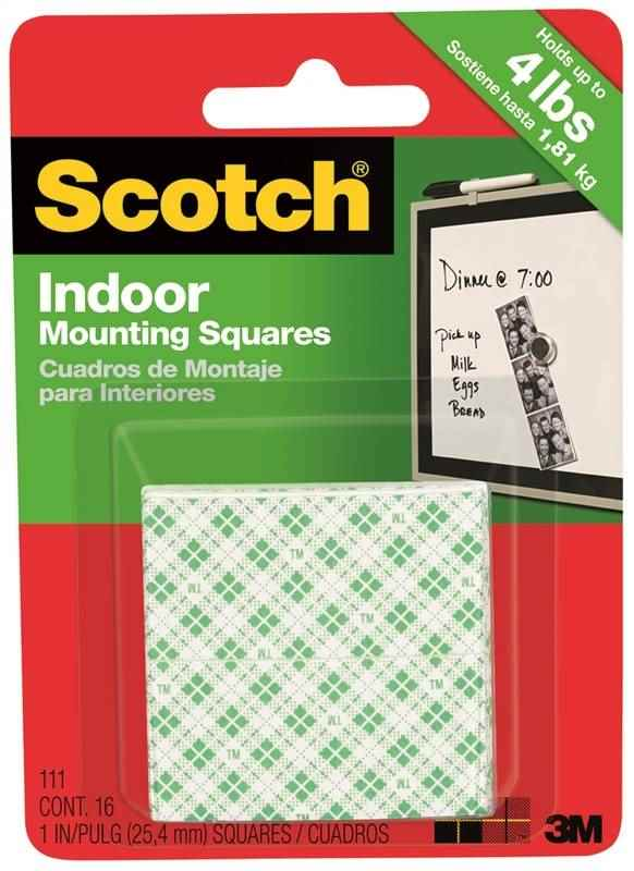 "SCOTCH INDOOR MOUNTING SQUARES 16 PK 1"" - HOME IMPROVEMENT OUTLET"