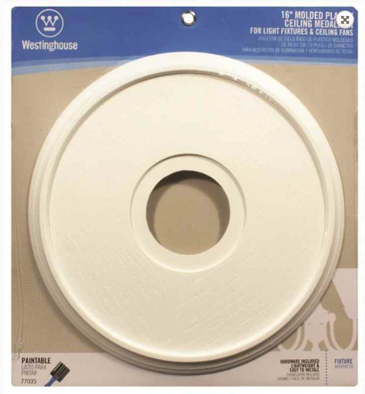 "ROSETTE - CANOPY 16"" WHITE - HOME IMPROVEMENT OUTLET"