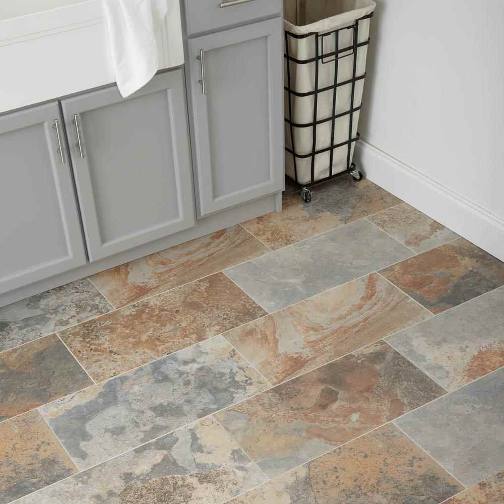 Thumbnail 4 - Marazzi, Vita Elegante Ardesia Multi Porcelain 12-inch x 24-inch, Stone Look Tile - HOME IMPROVEMENT OUTLET
