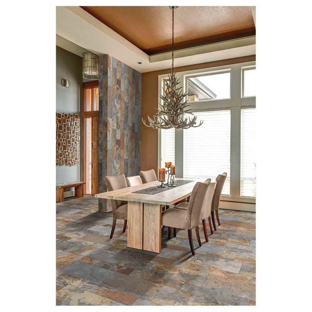 Thumbnail 5 - Marazzi, Vita Elegante Ardesia Multi Porcelain 12-inch x 24-inch, Stone Look Tile - HOME IMPROVEMENT OUTLET