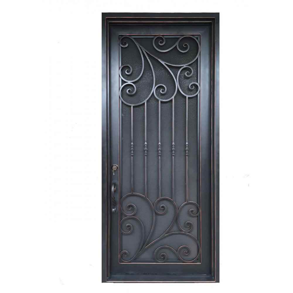 "IRON DOOR - VERONA 42"" X 84"" SINGLE - HOME IMPROVEMENT OUTLET"