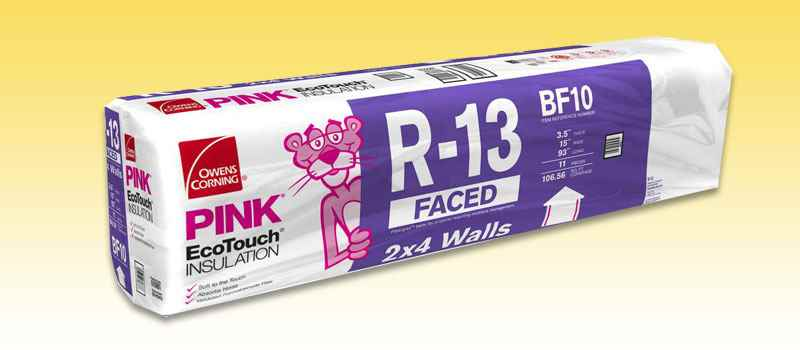 INSULATION - R13 OC 15x93 106.56sF FACED - HOME IMPROVEMENT OUTLET