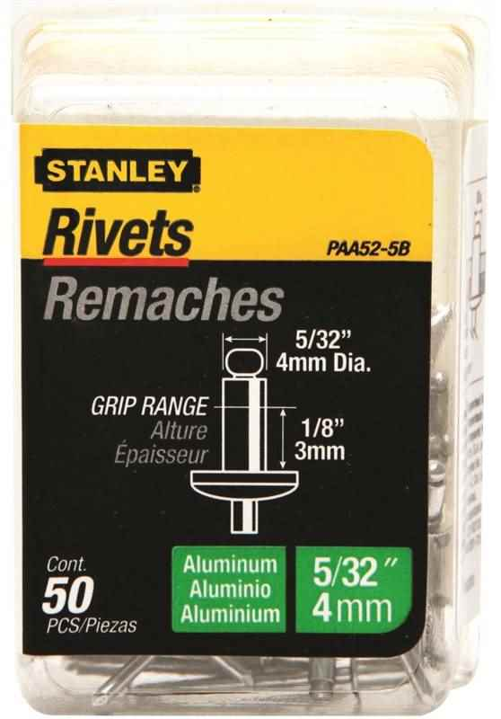 RIVETS - ALUMINIUM 5/32 D X 1/8 G - HOME IMPROVEMENT OUTLET