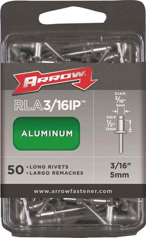 RIVETS - ALUMINIUM 3/16 D X 1/2 G - HOME IMPROVEMENT OUTLET