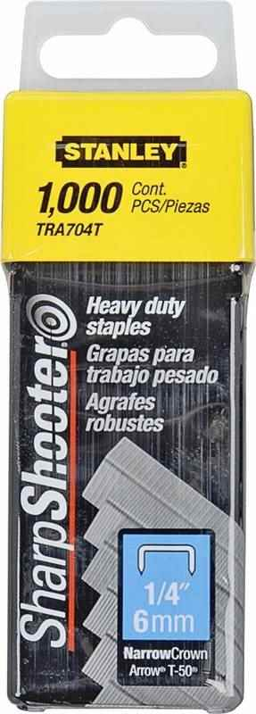 STAPLE HEAVY DTY 1000PK 1/4IN - HOME IMPROVEMENT OUTLET