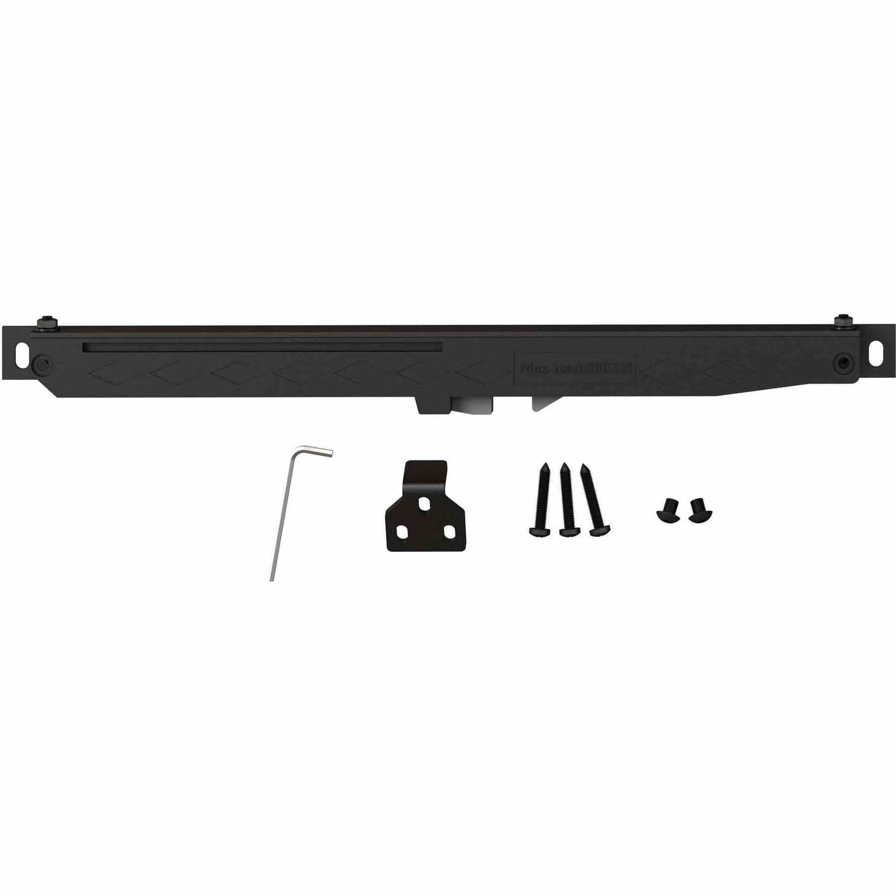 Soft Close Set - For Flat Door Tracks Black  - HOME IMPROVEMENT OUTLET