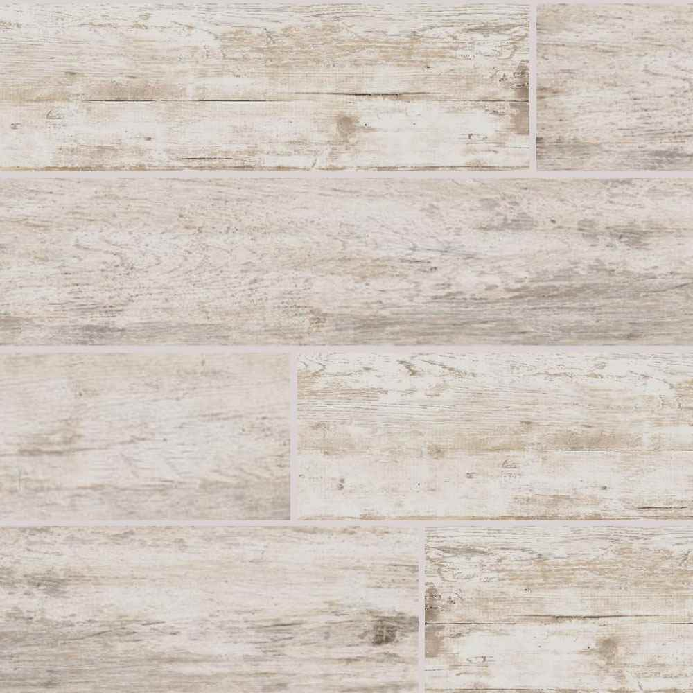 DALTILE -  Season Wood Snow Pine 6x48 | Builders Grade - HOME IMPROVEMENT OUTLET