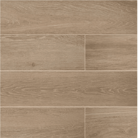 DALTILE - Emerson Wood Butter Pecan 6x48 | Builders Grade - HOME IMPROVEMENT OUTLET
