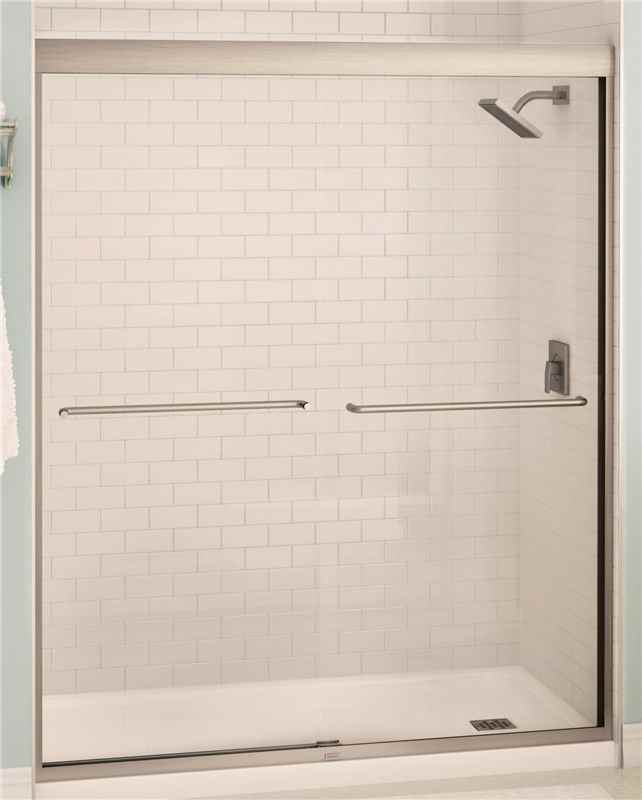 "SHOWER DOOR - 60""wx71""h NICKEL  BYPASS - HOME IMPROVEMENT OUTLET"