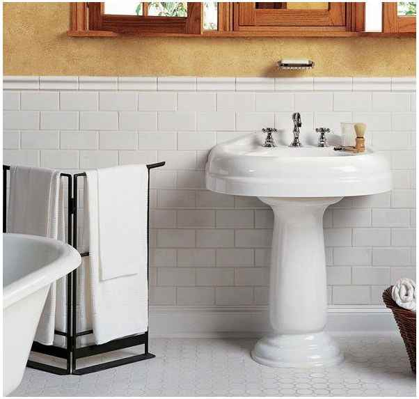 Thumbnail 5 - Daltile, Rittenhouse White Ceramic 3-inches x 6-inches, Floor/Wall Tiles - HOME IMPROVEMENT OUTLET
