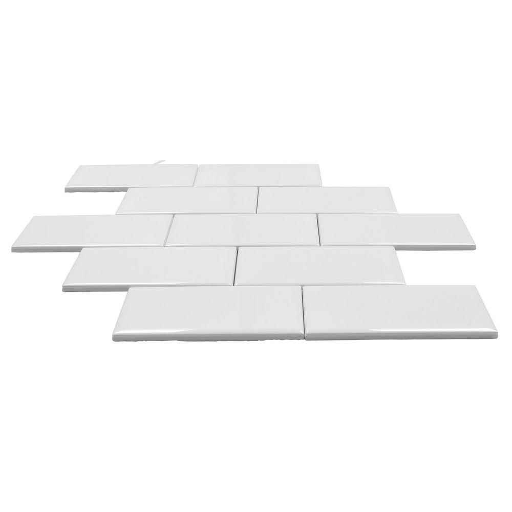 Main 4 - Daltile, Rittenhouse White Ceramic 3-inches x 6-inches, Floor/Wall Tiles - HOME IMPROVEMENT OUTLET
