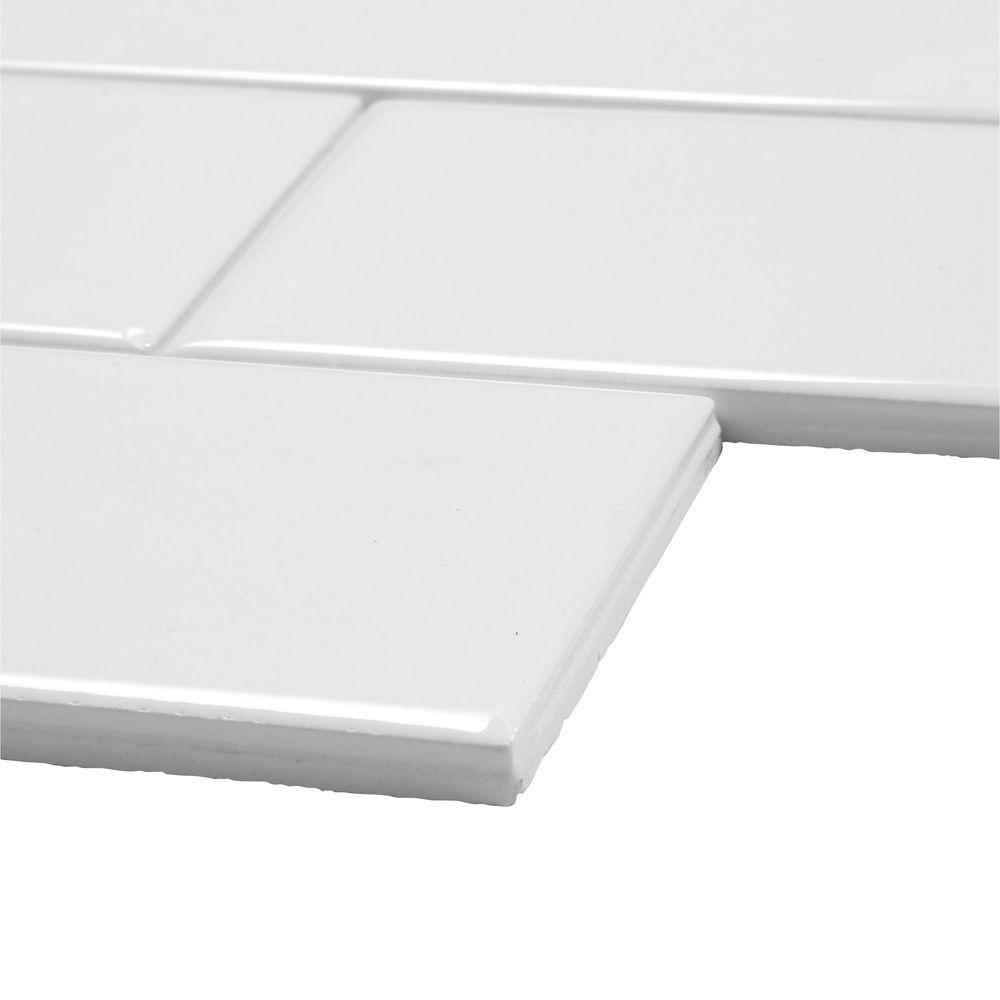 Main 3 - Daltile, Rittenhouse White Ceramic 3-inches x 6-inches, Floor/Wall Tiles - HOME IMPROVEMENT OUTLET