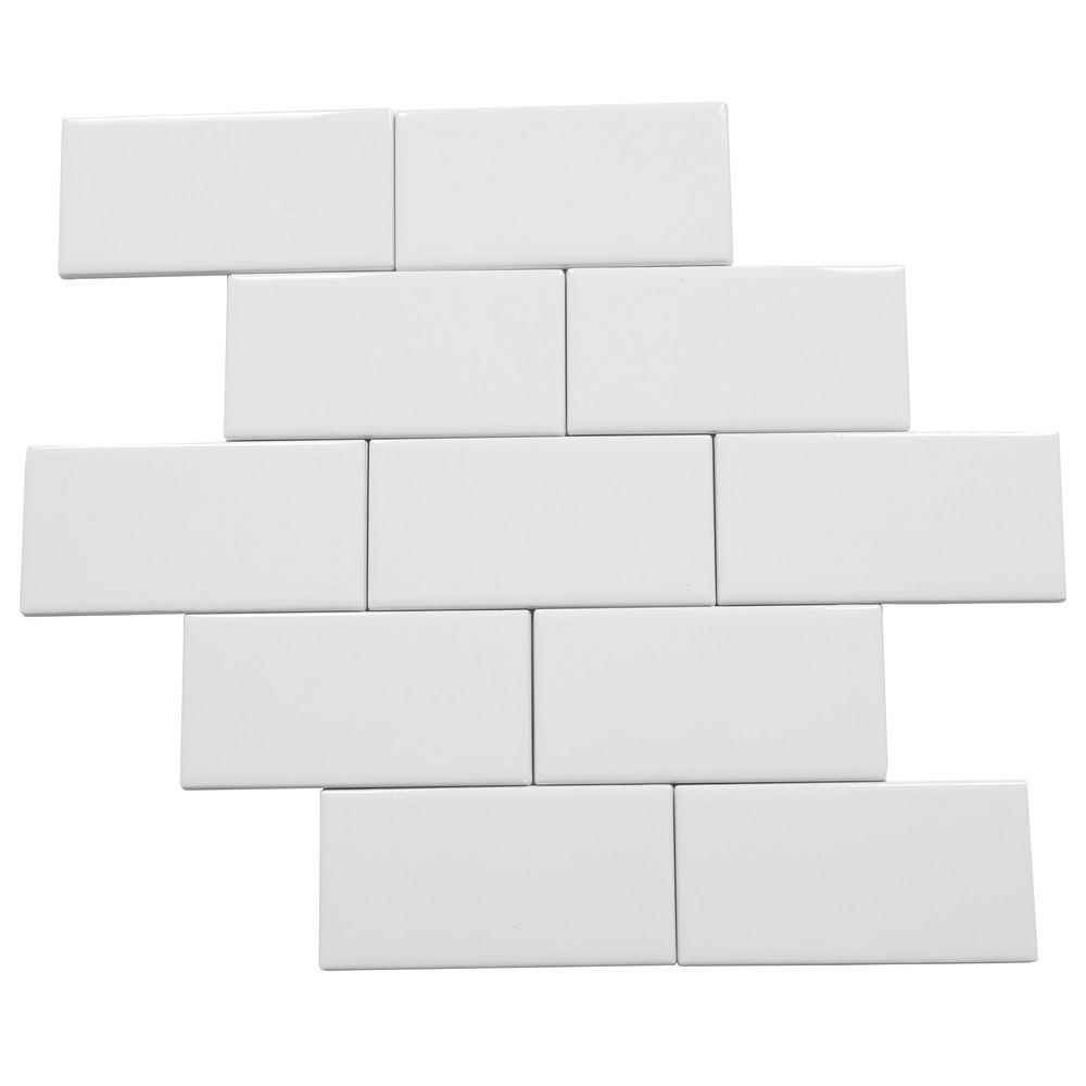 Main 2 - Daltile, Rittenhouse White Ceramic 3-inches x 6-inches, Floor/Wall Tiles - HOME IMPROVEMENT OUTLET