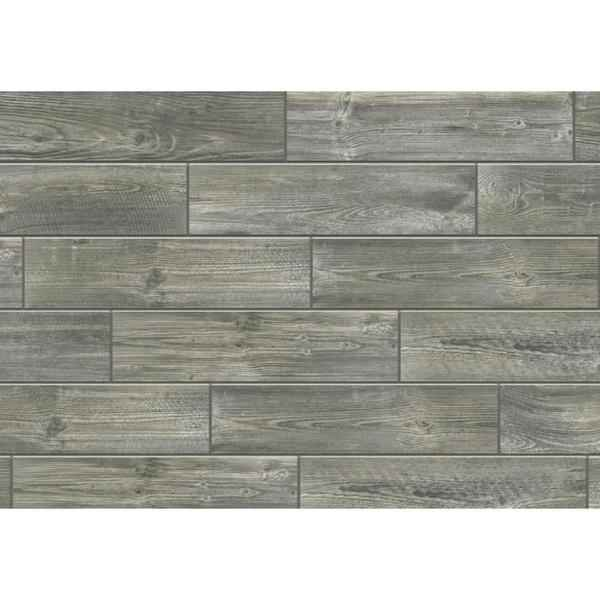 FLORIM - Creekwood Smoke Porcelain Plank 6 x 24 - HOME IMPROVEMENT OUTLET